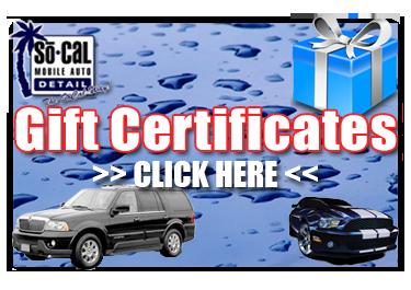 Car Detailing Gift Certificate